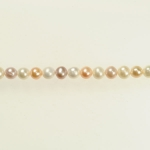 6mm Natural Multi-Color Freshwater Potato Pearls - 16 Inch Strand