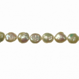 10-12mm Coin Pearls - 16 Inch Strand