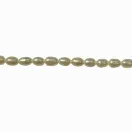 4x3mm Freshwater Rice Pearls - 16 Inch Strand