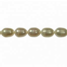 11x9mm Freshwater Rice Pearls - 16 Inch Strand
