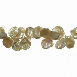 13x12mm Freshwater Keshi Pearls - 16 Inch Strand