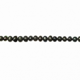5mm Peacock Freshwater Potato Pearls - 16 Inch Strand
