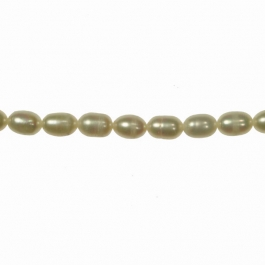 8x5mm Freshwater Rice Pearls - 16 Inch Strand