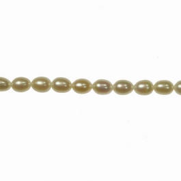6x5mm Freshwater Rice Pearls - 16 Inch Strand
