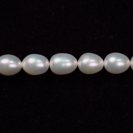 7x6mm Freshwater Rice Pearls - 16 Inch Strand