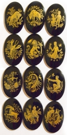 40X30 Zodiac Cameos - Set of 12