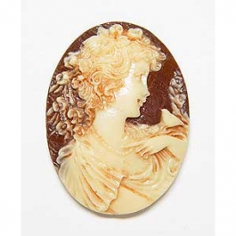 40x30mm Oval Fashion Cameo Anastasia