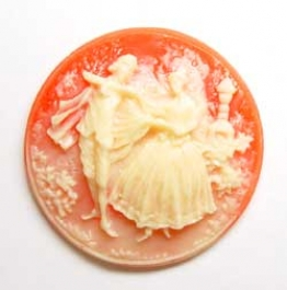 40mm Round Fashion Cameo Dancers