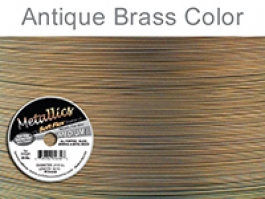 Soft Flex Beading Wire, Metallic Antique Brass, .019 Inch, 30 Feet