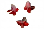 Cranberry Butterfly Crystals - Large - 6 / pkg