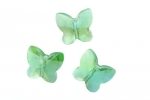 Green Butterfly Crystals - Large - 6 / pkg