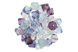 Lilacs--Bicone Crystal Mix - 6mm (1/2 gross)