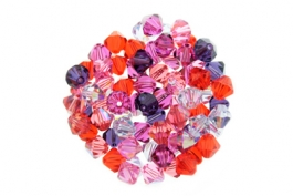 Melonberry--Bicone Crystal Mix - 6mm (1/2 gross)