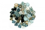 Pebble Stone--Bicone Crystal Mix - 8mm (1/4 gross)
