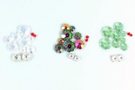 Oh! Christmas Tree Earring Bead Kit - Crystal