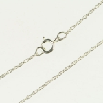 18 Inch Silver Filled Finished Rope Chain  .17MM Wire 1MM OD Link Pack of 1