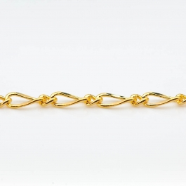 60 inch Gold Plated Fancy Curb Chain (Unfinished)
