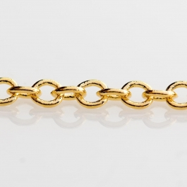 60 inch Gold Plated Filed Cable Chain (Unfinished)