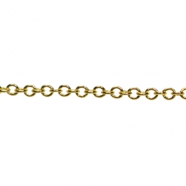60 inch Gold Plated Fine Cable Chain (Unfinished)