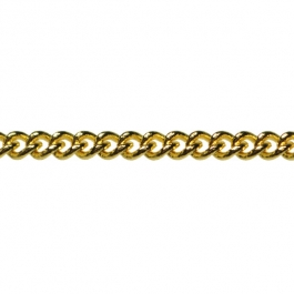 60 inch Gold Plated Small Filed Curb Chain (Unfinished)