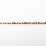 Gold Finish Steel Rope Chain 2.53X3.58mm