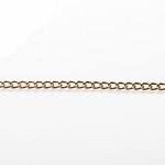 Gold Finish Steel Curb Chain 3.45X5.18mm