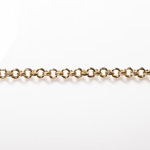 Gold Finish Steel Double Cable Chain 5.28X5.28mm