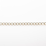Gold Finish Soldered Brass Curb Chain 3.66X5.06mm