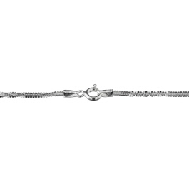 Sterling Silver Alternate Cross Chain 1.4mm 20 inch - Pack of 1