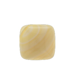 Yellow Agate with Line 15X15mm Square Cabochon