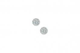 "Lillypilly - Silver Circles - 5/8"" Disc (PKG 2)"