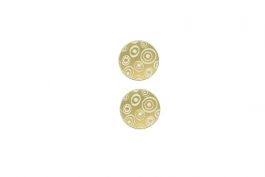 "Lillypilly - Gold Circles - 1"" Disc (PKG 2)"