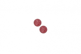 "Lillypilly - Red Waves - 5/8"" Disc (PKG 2)"