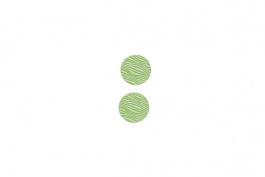 "Lillypilly - Lime Waves - 3/4"" Disc (PKG 2)"