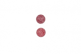 "Lillypilly - Red Waves - 3/4"" Disc (PKG 2)"
