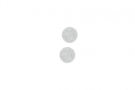"Lillypilly - Silver Waves - 3/4"" Disc (PKG 2)"