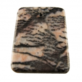 47X34mm Pink Zebra Jasper Ladder Pendant with 1.5mm Hole - Pack of 1