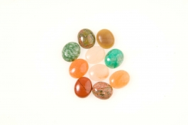 12x10mm Gemstone Oval Cabochon Assortment - Pack of 100