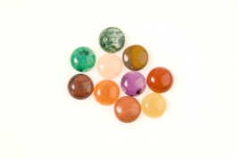 12mm Gemstone Round Cabochon Assortment - Pack of 100