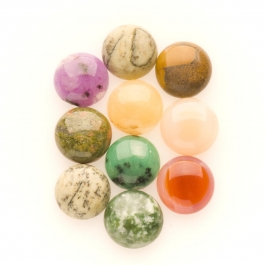 10mm Gemstone Round Cabochon Assortment - Pack of 100