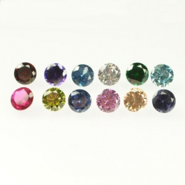 6mm Round Cubic Zirconia Birthstone Set