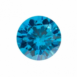 10mm Round Blue CZ - Pack of 1