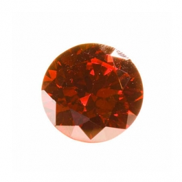 10mm Round Red CZ - Pack of 1