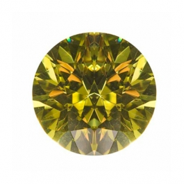 10mm Round Peridot CZ - Pack of 1