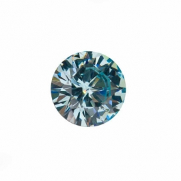 10mm Round Aquamarine CZ - Pack of 1