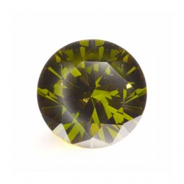 10mm Round Olive CZ - Pack of 1