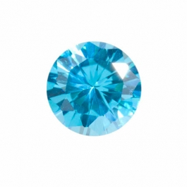 10mm Round Blue Topaz CZ - Pack of 1
