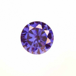 10mm Round Tanzanite CZ - Pack of 1