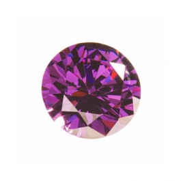 10mm Round Amethyst CZ - Pack of 1