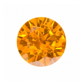10mm Round Golden Yellow CZ - Pack of 1